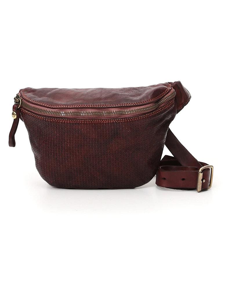 Campomaggi Waist Bag. Genuine leather. Hexagonal. Wine.