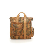 Campomaggi Shopping bag. Genuine Leather. Camouflage + Stone Wash. Camou + Natural.