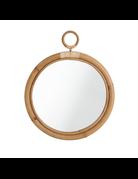 Originals Ella Mirror. Diameter 45cm with skin-on natural rattan.
