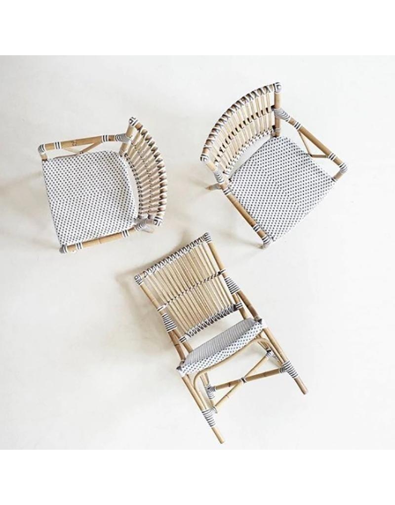Affaire Monique Side Chair, White/Cappucino