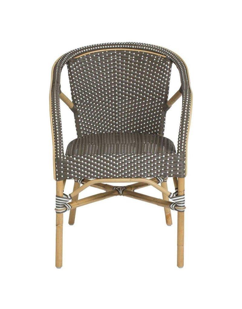 Affaire Madeleine chair Cappuccino w/white dots