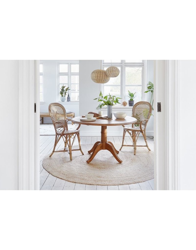 Teak Michel Teak 1.2m diameter round dining table