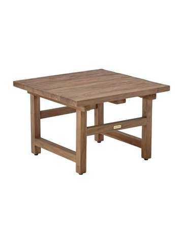 Teak Alfred Side Table.  60x60 cm.,Old Teak.