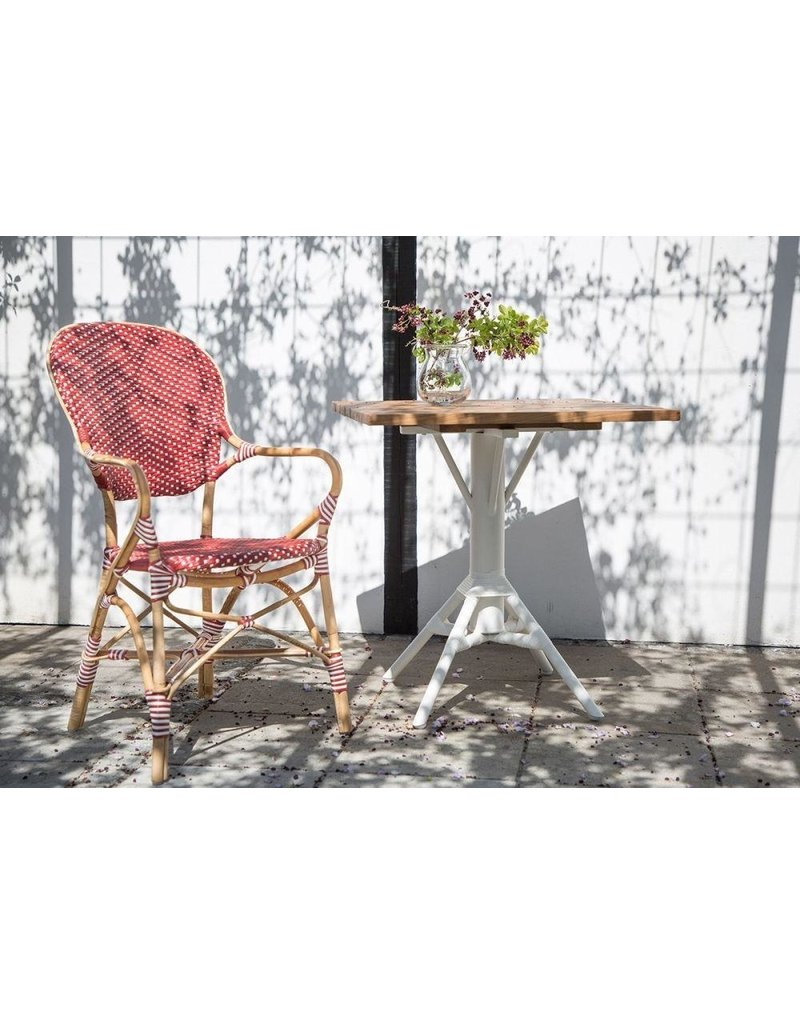 Affaire Nicole Cafe Table Base. White. ,Assorted tops available separately