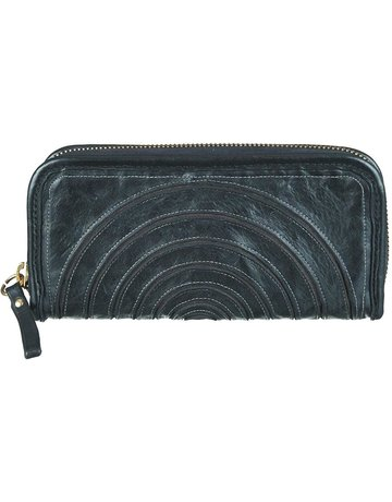 Campomaggi Wallet. Leather w spiral. Black.
