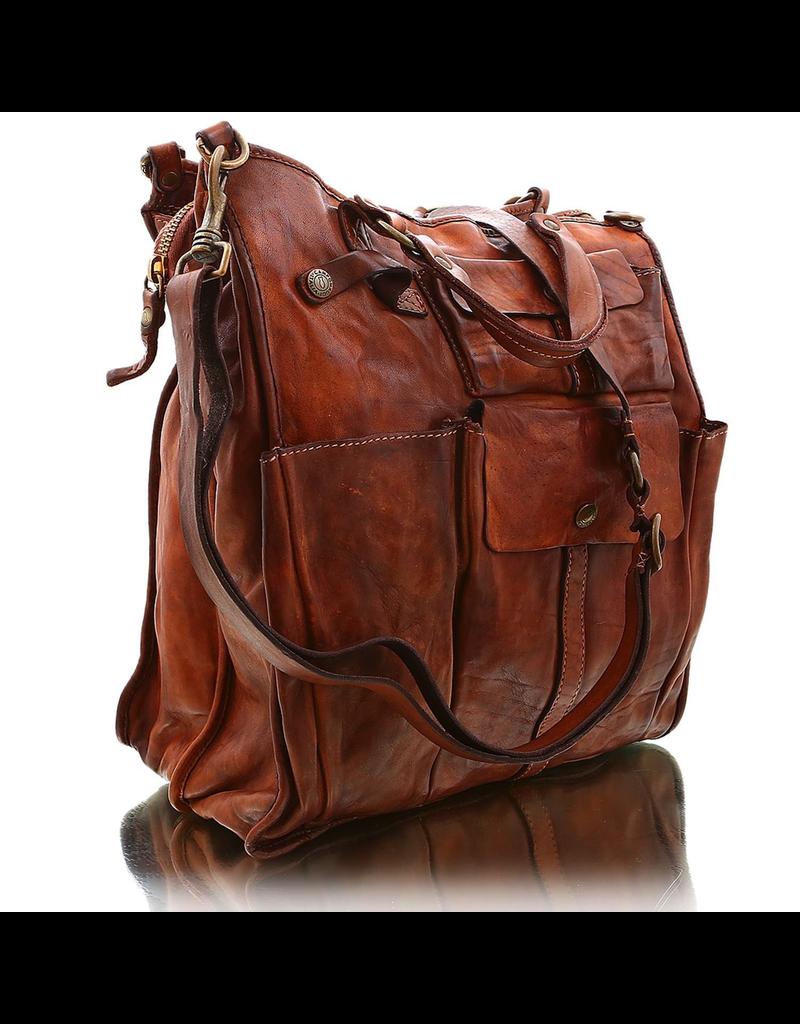 Campomaggi Cowhide Leather Bag.  Famous oscati?design. Cognac