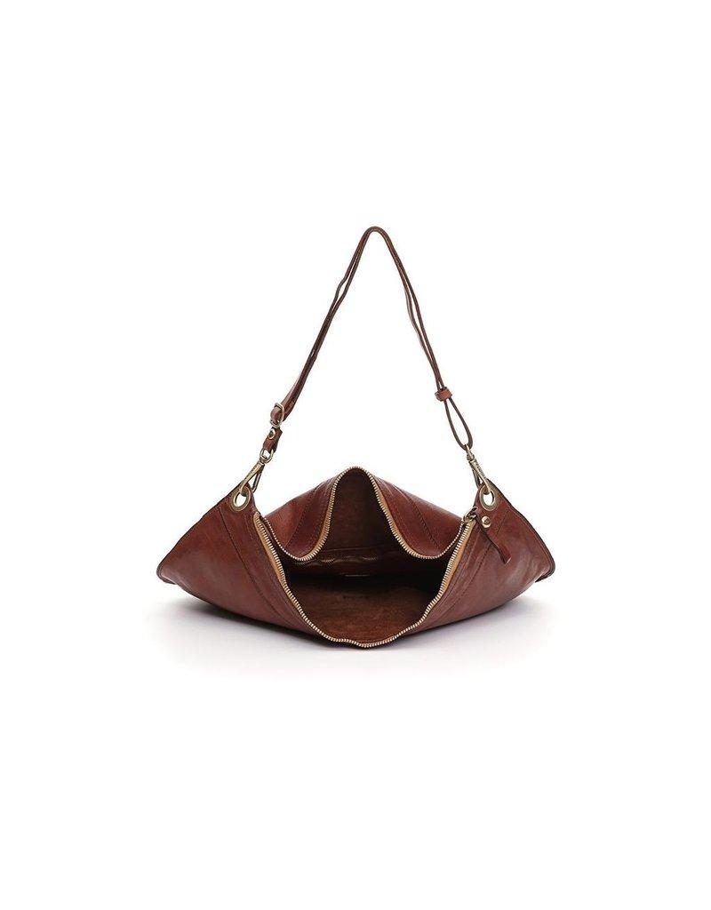 Campomaggi Shoulder bag. Large. Genuine leather. Cognac