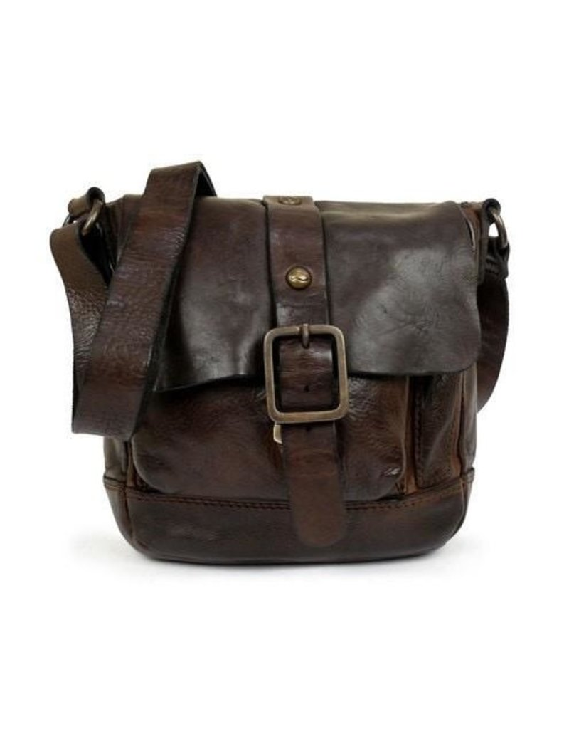 Campomaggi 100% genuine leather. Cross body bag. Small. Moro.