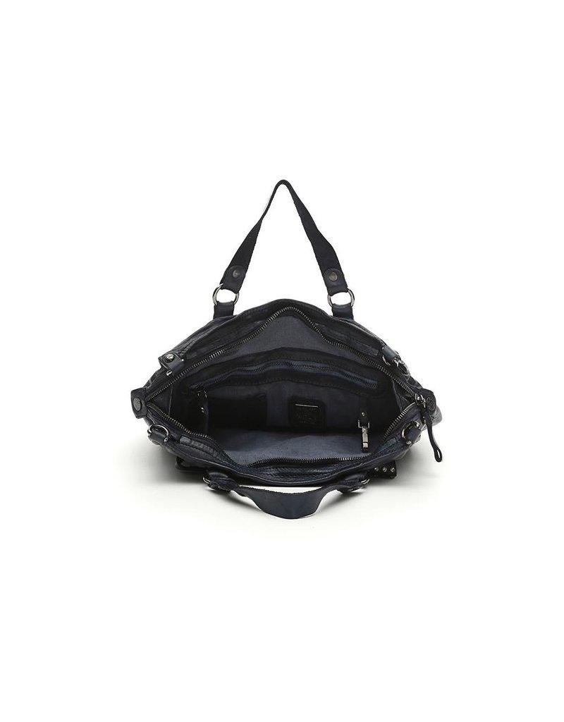 Campomaggi Genuine leather. Shopping. Studs Diamante. Black.