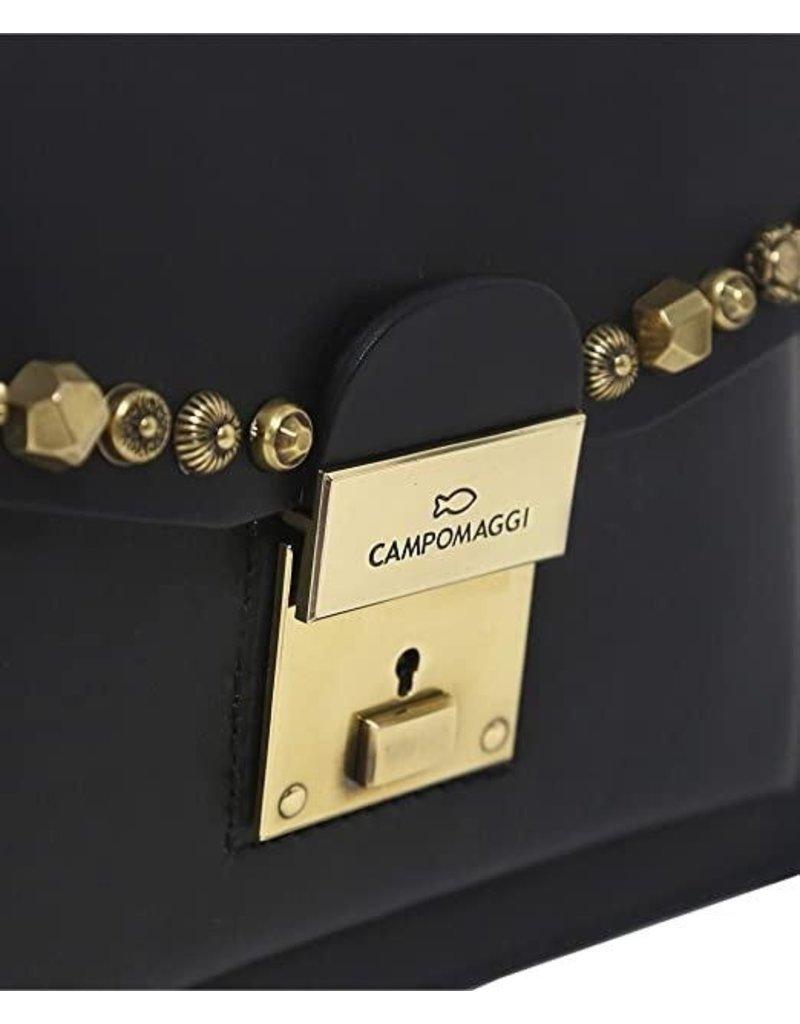 Campomaggi Genuine Leather. Shopping small. Studs Celestina. Black.