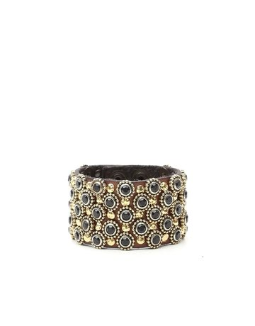 Campomaggi 100% genuine leather. Bracelet with Studs. Grigio.