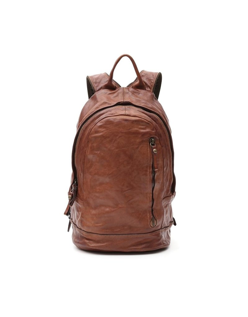 Campomaggi Backpack. Genuine Leather. Cognac.