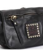 Campomaggi Coin  Purse + Crossbody bag. Genuine leather + Bella Di Notte Studs. Black.