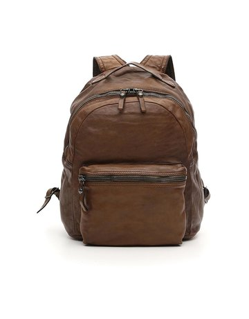 Campomaggi Backpack. Genuine Leather. Military Green.