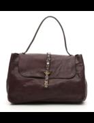 Campomaggi Handbag. Large. Leather + Strap w Studs. Moro.