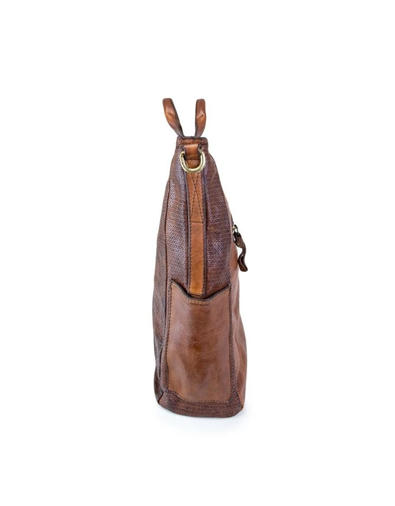 Campomaggi Shopping Bag. Genuine leather. Hexagonal. Military Green.