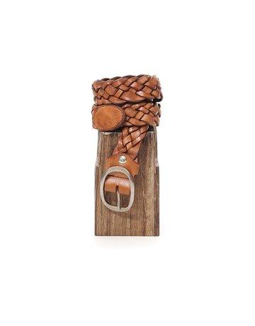 Campomaggi Belt. H4. Oval Buckle. Genuine Leather. Cognac. S75
