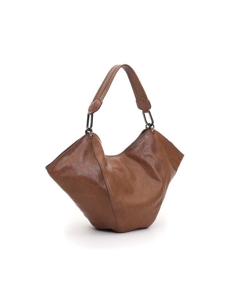 Campomaggi Anna M Shoulder bag. Medium. Goat leather. Tobaccl.