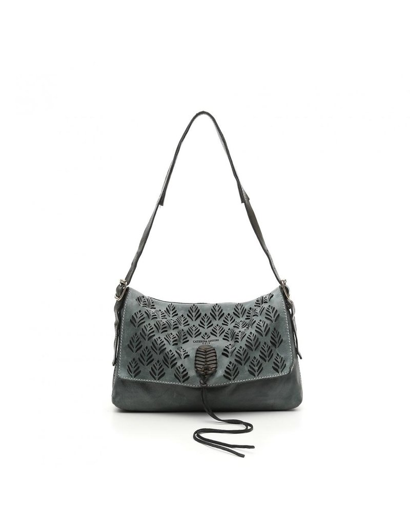 Caterina Lucchi Caterina Lucchi. Shoulder Bag. Calf leather + cow + spike laser cut. Anise.