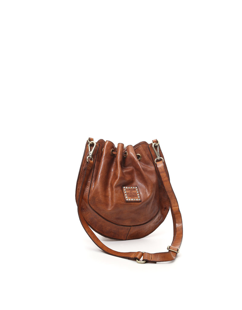 Campomaggi 100% Leather bucket bag with Bella Di Notte Studs