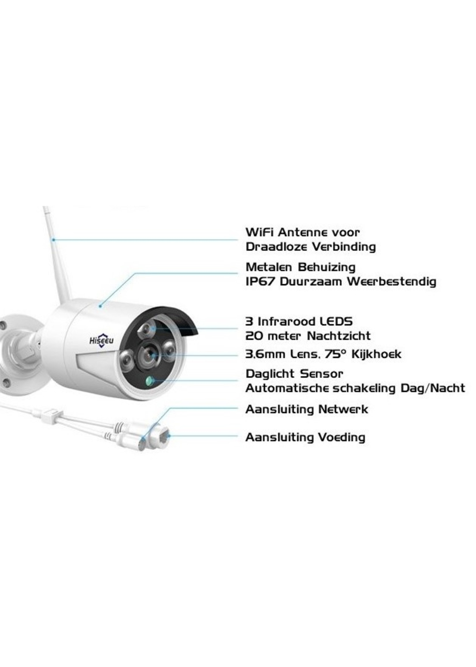 Complete Camerabewakingsset WIFI 3MP