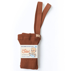 Silly Silas Footless Tights Cinnamon