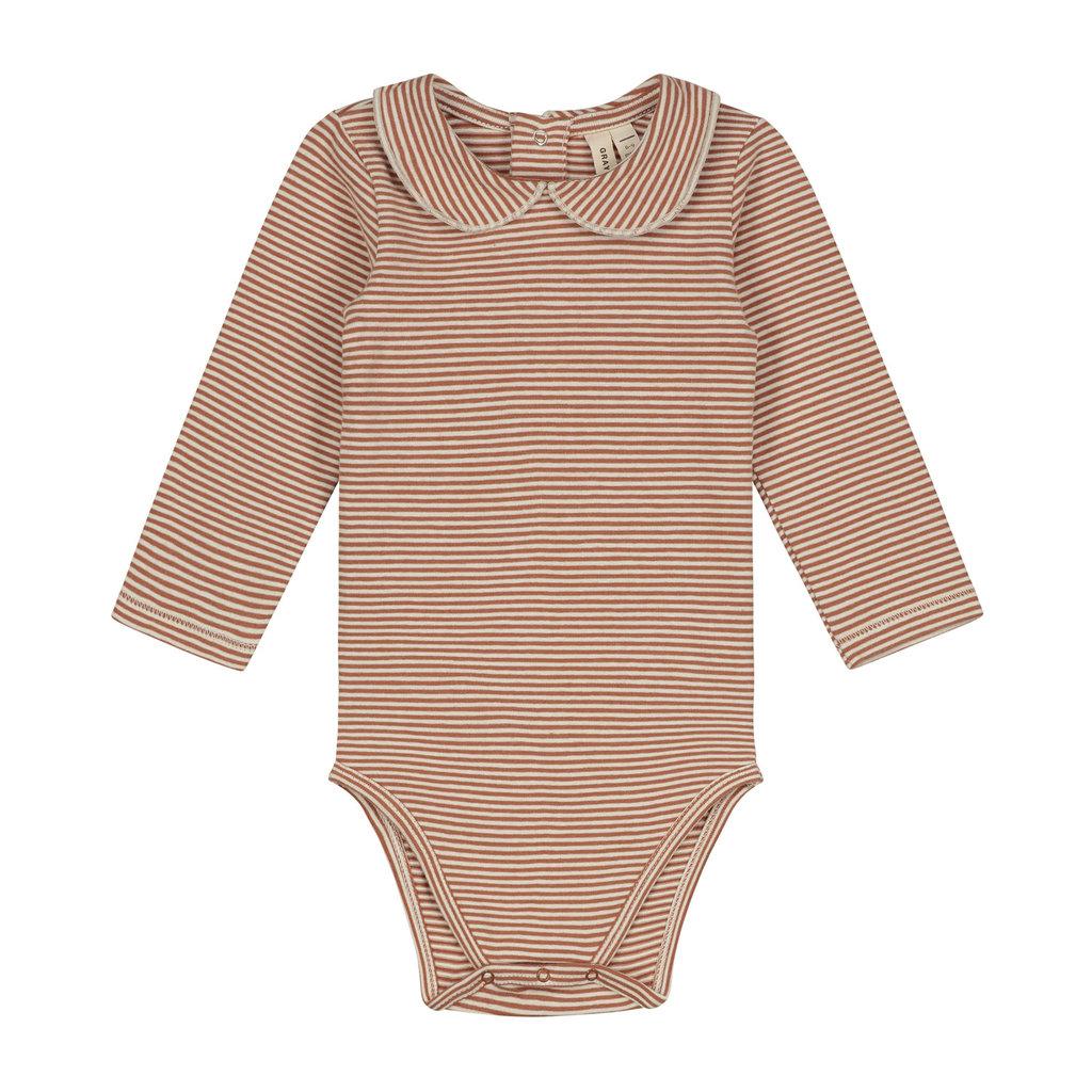 Gray Label Baby Collar Onesie Autumn