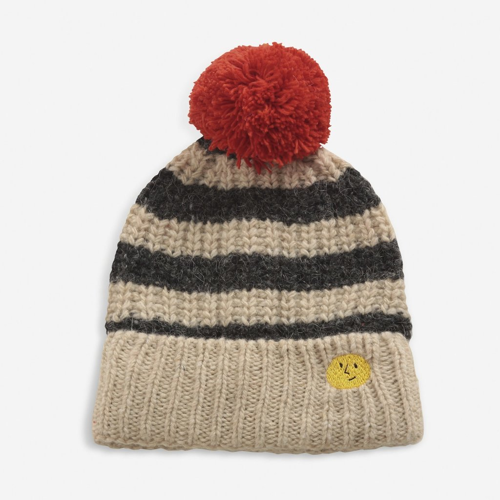 Bobo Choses Striped knitted beanie
