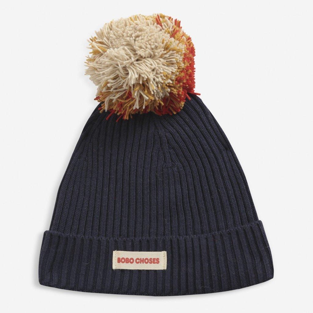 Bobo Choses Multicolor Pompom knitted beanie