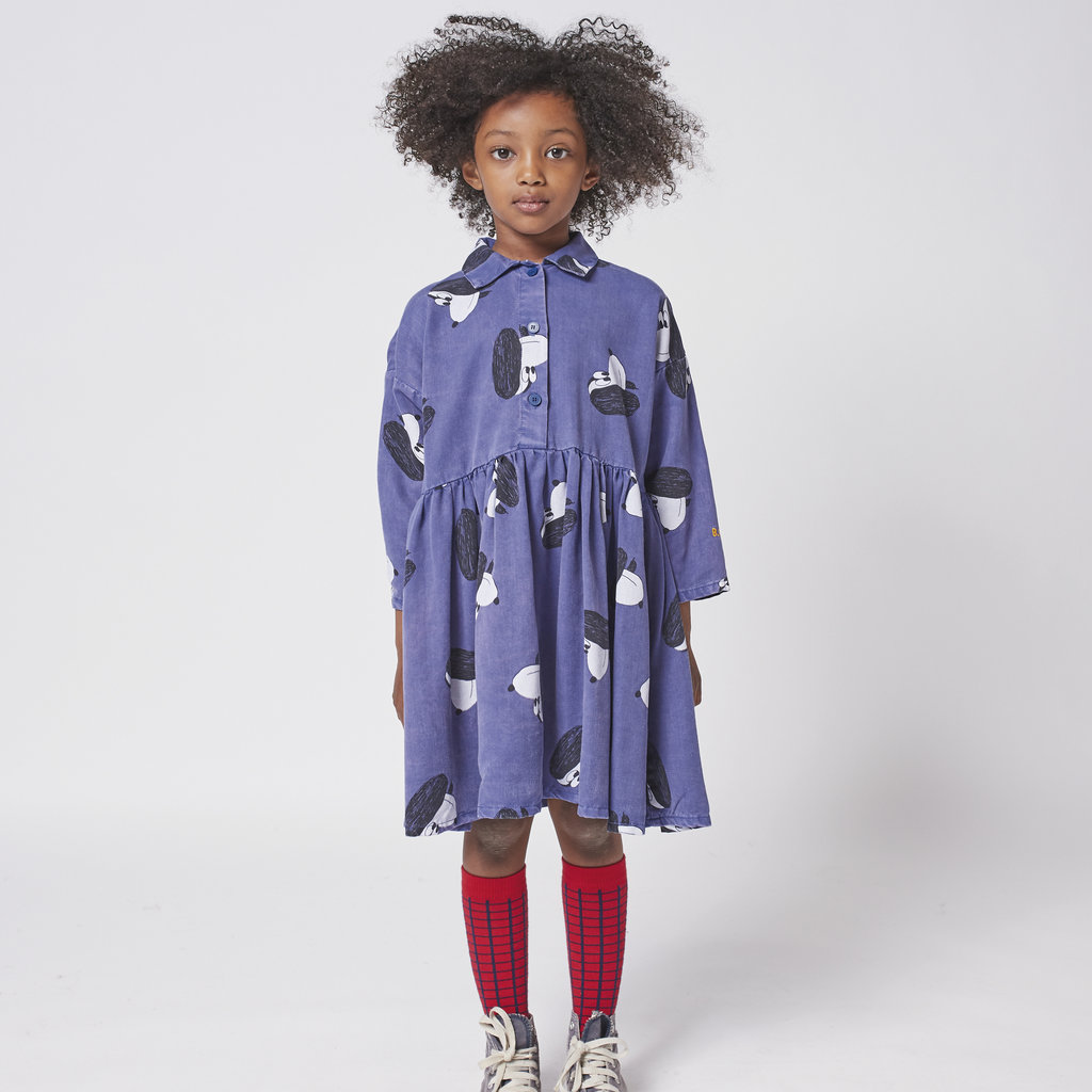 Bobo Choses Doggie All Over woven buttoned dress