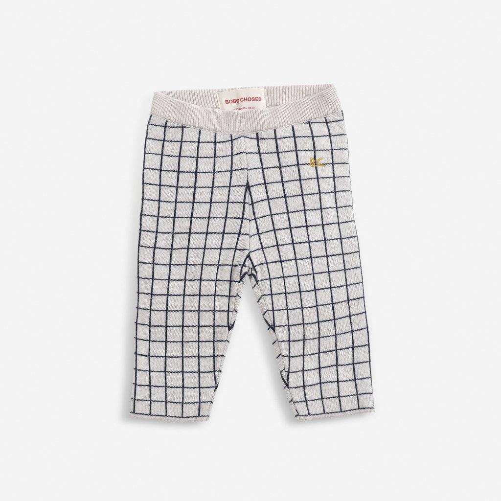 Bobo Choses Checkered knitted pants