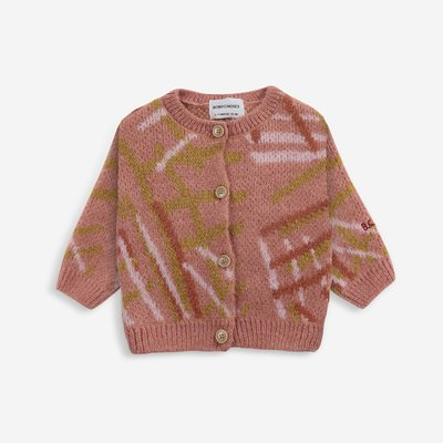 Bobo Choses Scratch knitted cardigan