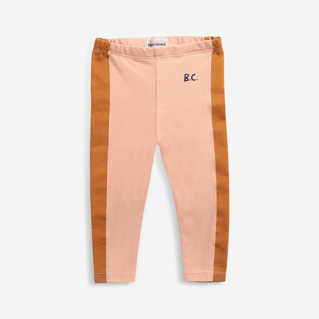 Bobo Choses Mustard Stripes leggings