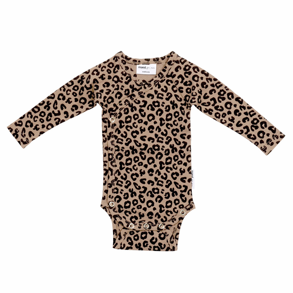 Maed for Mini Brown Leopard AOP Wrap Body