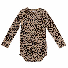 Maed for Mini Brown Leopard AOP Romper