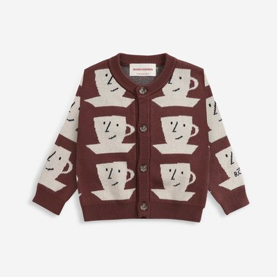 Bobo Choses Cup Of Tea knitted cardigan
