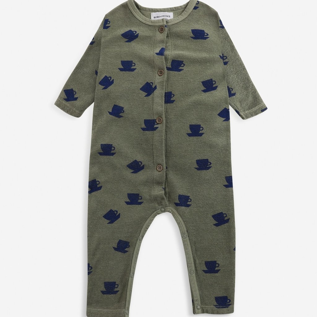Bobo Choses Cup Of Tea All Over terry overall