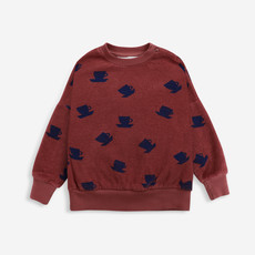 Bobo Choses Cup Of Tea All Over terry sweatshirt