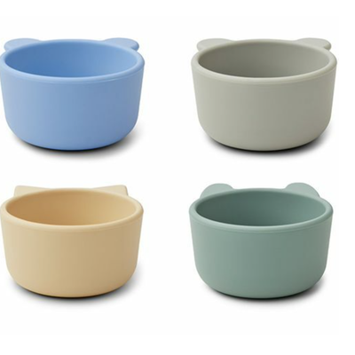 Liewood Silicone Bowls 4-pack Peppermint