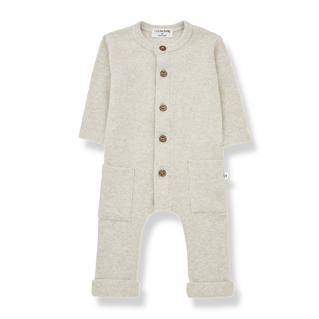1+ in the Family MILOS Jumpsuit Alabaster