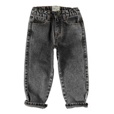 Piupiuchick Unisex Denim Trousers | black denim