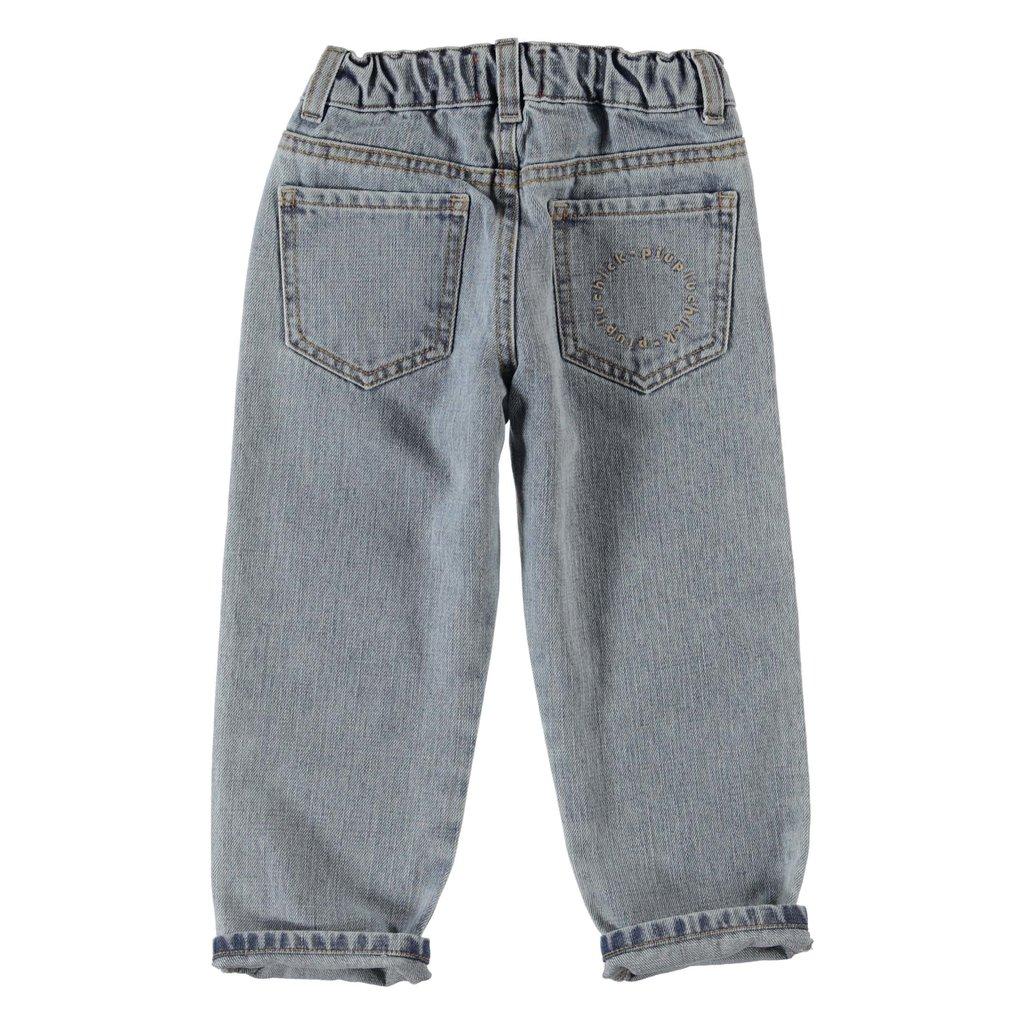 Piupiuchick Unisex Denim Trousers   blue denim