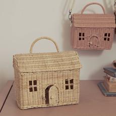 Olli Ella Rattan Casa Bag - Straw