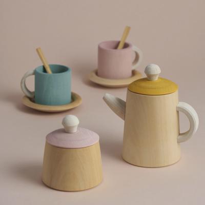 Raduga Grëz Tea Set Mustard and Pink