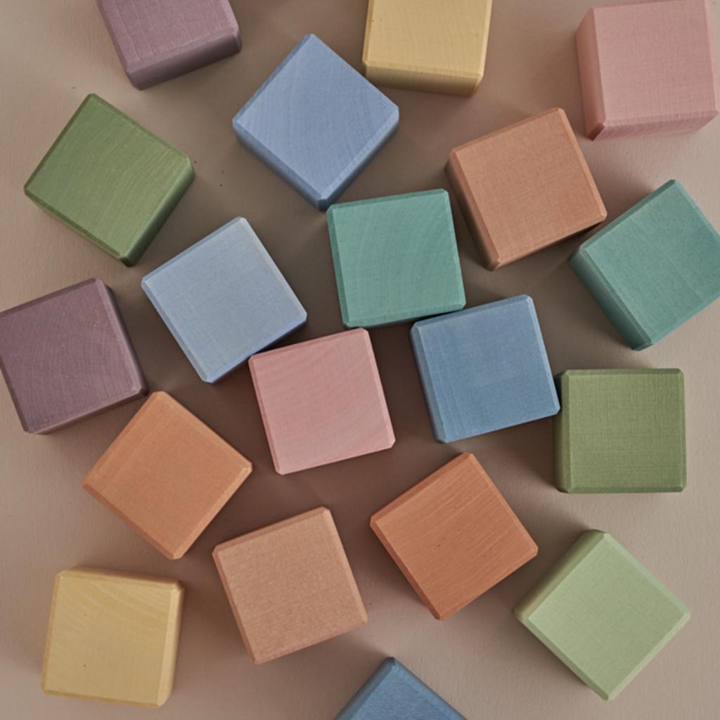 Raduga Grëz Earth Pastel Cubes Set, 20 Cubes
