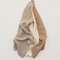 Garbo&Friends Muslin Burp Cloths 3 pcs Olive
