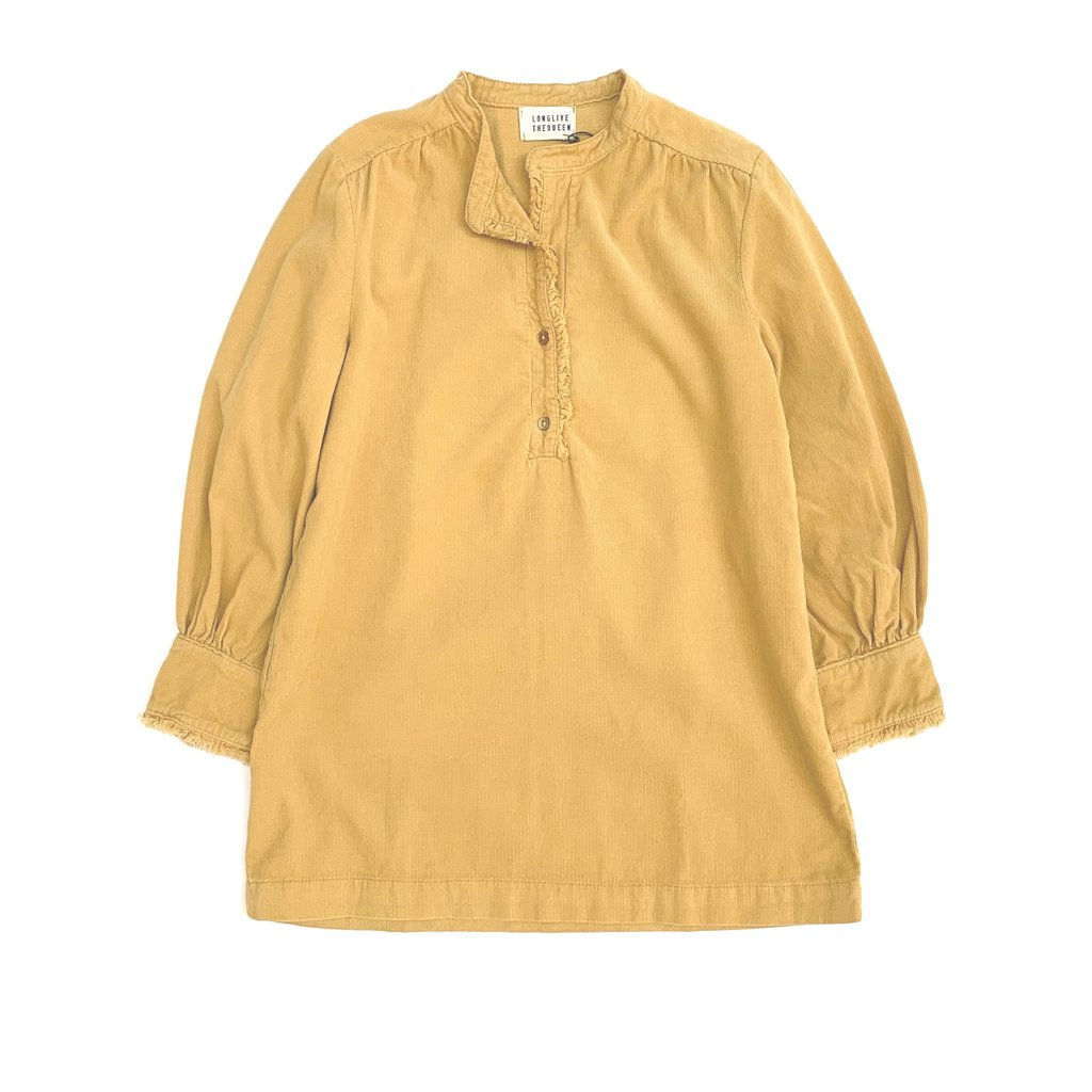 Longlivethequeen Mini Dress With Ruffles Dirty Yellow