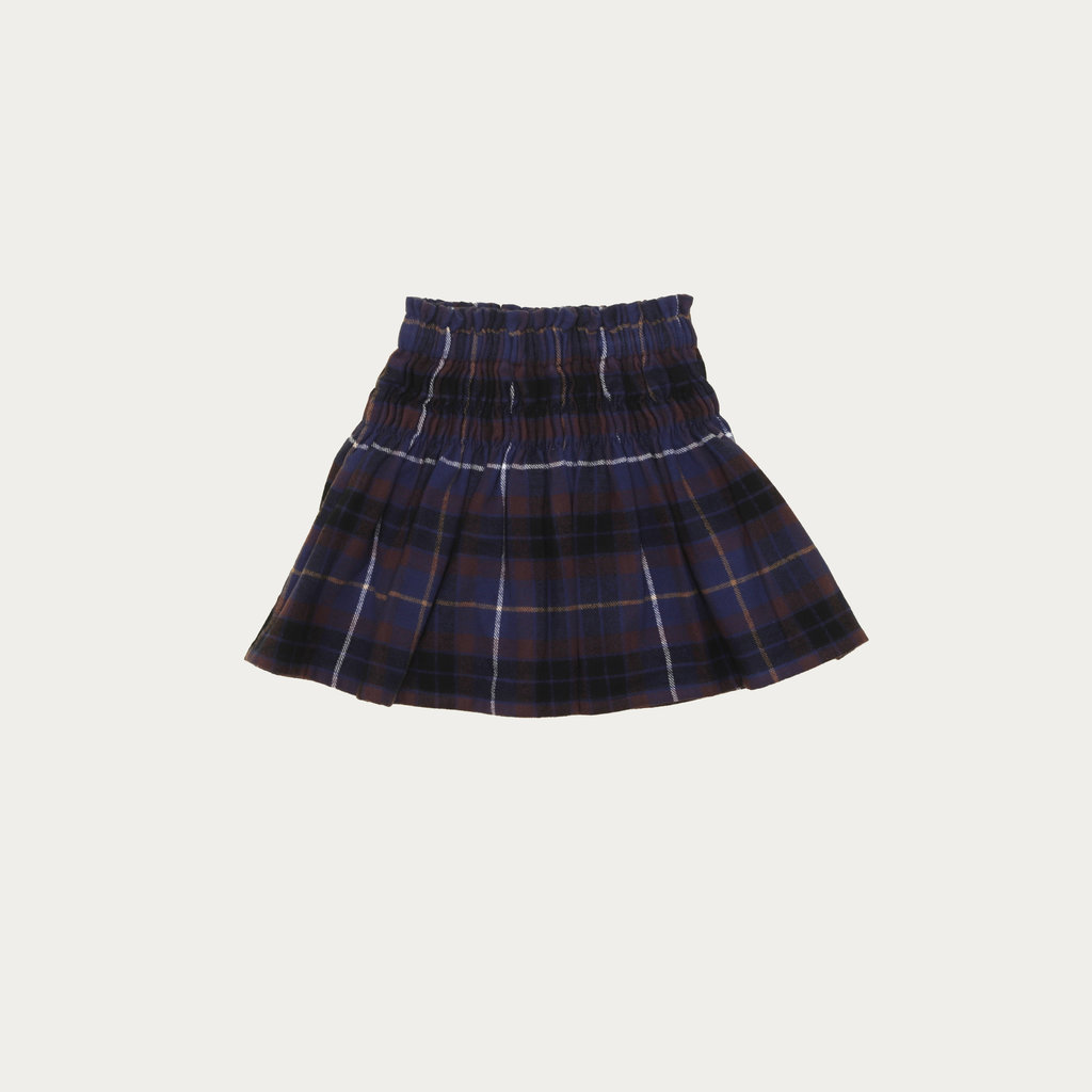 The Campamento Blue Checked Skirt