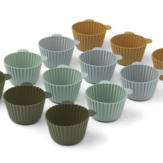 Liewood Jerry Cake Cup 12-pack Green Multi Mix