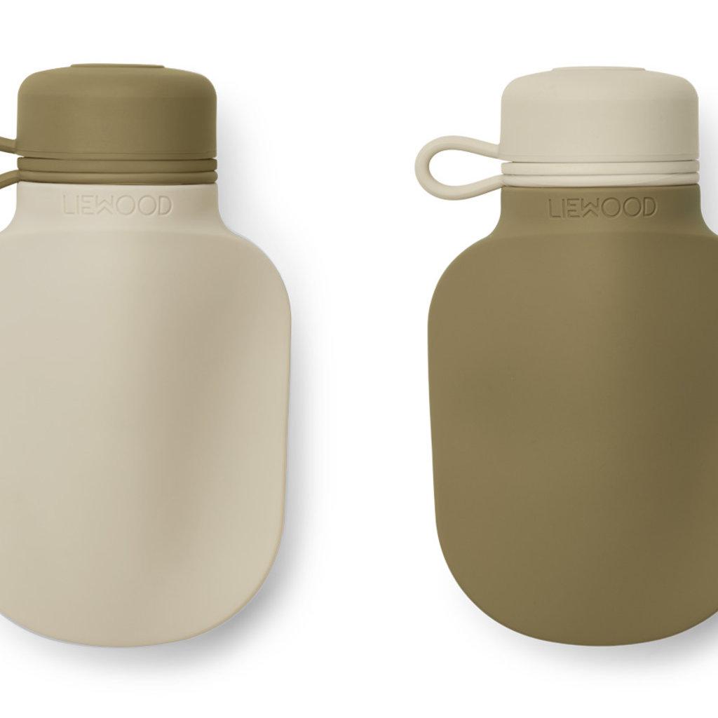 Liewood Silvia Smoothie Bottle 2-pack Sandy Khaki Mix